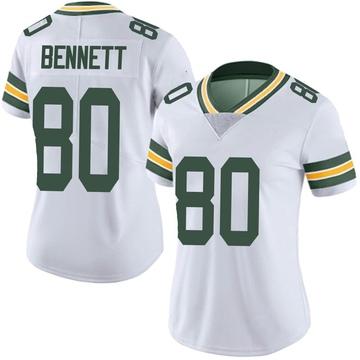 Women's Nike Green Bay Packers Martellus Bennett White Vapor Untouchable Jersey - Limited