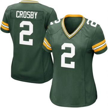 Women's Nike Green Bay Packers Mason Crosby Green Team Color Jersey - Game