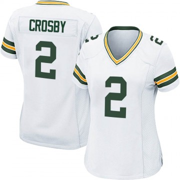 Women's Nike Green Bay Packers Mason Crosby White Jersey - Game