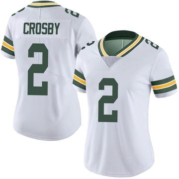 Women's Nike Green Bay Packers Mason Crosby White Vapor Untouchable Jersey - Limited
