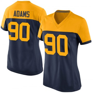 Women's Nike Green Bay Packers Montravius Adams Navy Alternate Jersey - Game