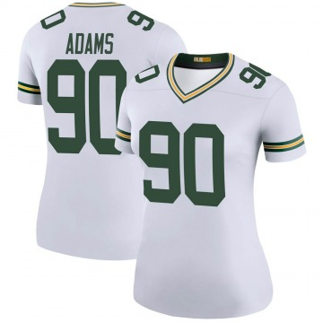 Women's Nike Green Bay Packers Montravius Adams White Color Rush Jersey - Legend