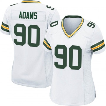 Women's Nike Green Bay Packers Montravius Adams White Jersey - Game