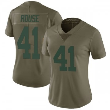 Women's Nike Green Bay Packers Nydair Rouse Green 2017 Salute to Service Jersey - Limited
