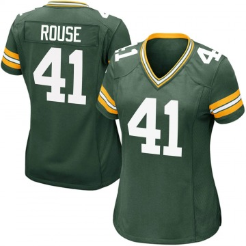 Women's Nike Green Bay Packers Nydair Rouse Green Team Color Jersey - Game