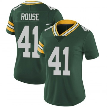 Women's Nike Green Bay Packers Nydair Rouse Green Team Color Vapor Untouchable Jersey - Limited