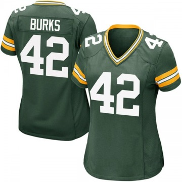 Women's Nike Green Bay Packers Oren Burks Green Team Color Jersey - Game