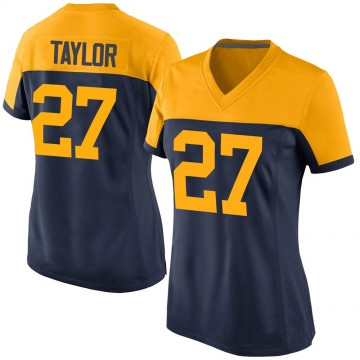 Women's Nike Green Bay Packers Patrick Taylor Jr. Navy Alternate Jersey - Game