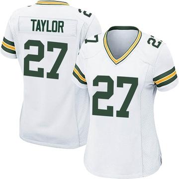 Women's Nike Green Bay Packers Patrick Taylor Jr. White Jersey - Game