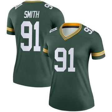 Women's Nike Green Bay Packers Preston Smith Green Jersey - Legend