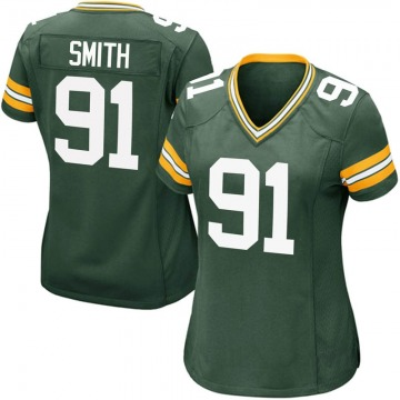 Women's Nike Green Bay Packers Preston Smith Green Team Color Jersey - Game