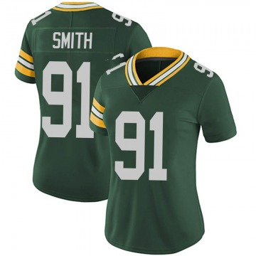 Women's Nike Green Bay Packers Preston Smith Green Team Color Vapor Untouchable Jersey - Limited