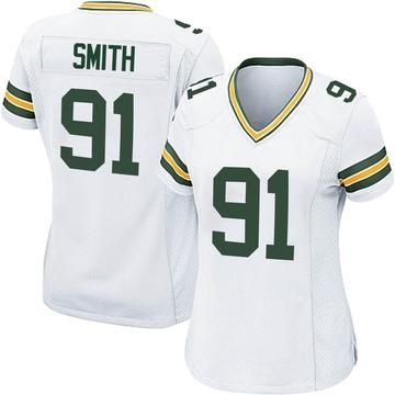 Women's Nike Green Bay Packers Preston Smith White Jersey - Game
