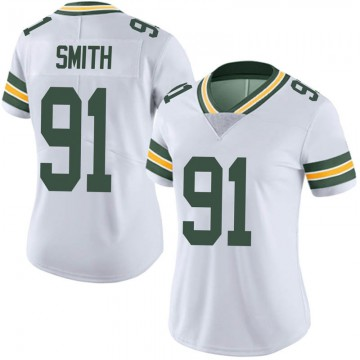 Women's Nike Green Bay Packers Preston Smith White Vapor Untouchable Jersey - Limited