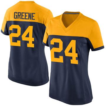 Women's Nike Green Bay Packers Raven Greene Green Navy Alternate Jersey - Game
