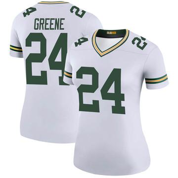 Women's Nike Green Bay Packers Raven Greene White Color Rush Jersey - Legend