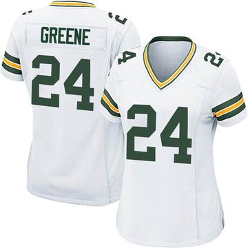 Women's Nike Green Bay Packers Raven Greene White Jersey - Game