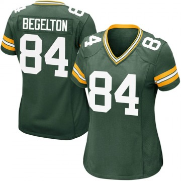Women's Nike Green Bay Packers Reggie Begelton Green Team Color Jersey - Game
