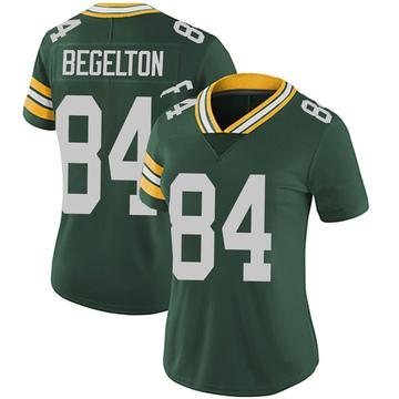 Women's Nike Green Bay Packers Reggie Begelton Green Team Color Vapor Untouchable Jersey - Limited