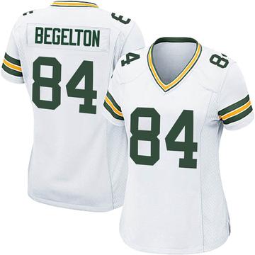 Women's Nike Green Bay Packers Reggie Begelton White Jersey - Game