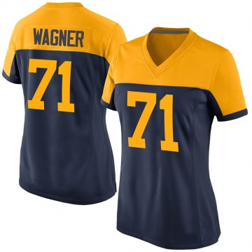 Women's Nike Green Bay Packers Rick Wagner Navy Alternate Jersey - Game