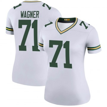 Women's Nike Green Bay Packers Rick Wagner White Color Rush Jersey - Legend