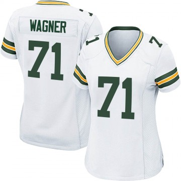 Women's Nike Green Bay Packers Rick Wagner White Jersey - Game