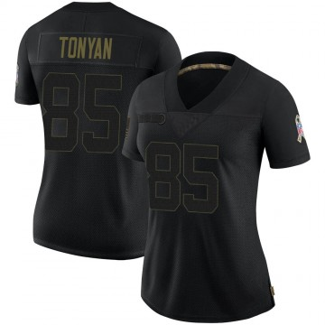 Women's Nike Green Bay Packers Robert Tonyan Black 2020 Salute To Service Jersey - Limited