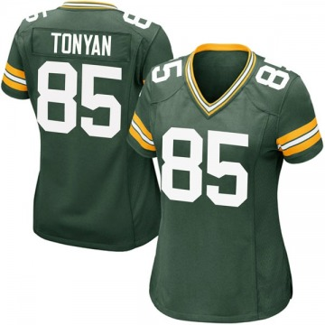 Women's Nike Green Bay Packers Robert Tonyan Green Team Color Jersey - Game