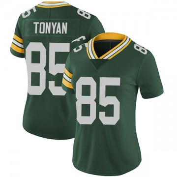 Women's Nike Green Bay Packers Robert Tonyan Green Team Color Vapor Untouchable Jersey - Limited