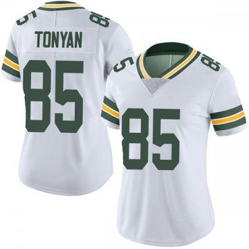 Women's Nike Green Bay Packers Robert Tonyan White Vapor Untouchable Jersey - Limited