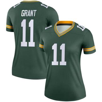 Women's Nike Green Bay Packers Ryan Grant Green Jersey - Legend
