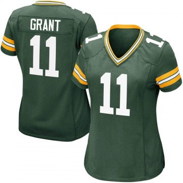 Women's Nike Green Bay Packers Ryan Grant Green Team Color Jersey - Game