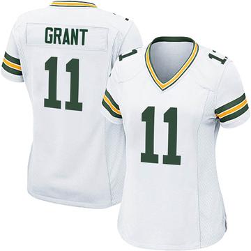 Women's Nike Green Bay Packers Ryan Grant White Jersey - Game