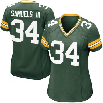 Women's Nike Green Bay Packers Stanford Samuels III Green Team Color Jersey - Game