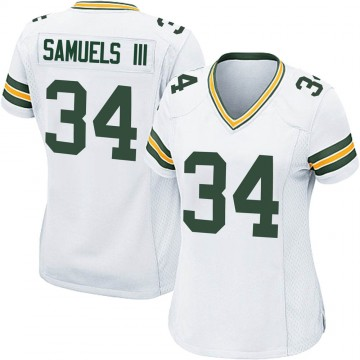 Women's Nike Green Bay Packers Stanford Samuels III White Jersey - Game