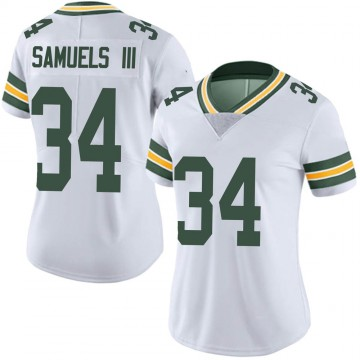 Women's Nike Green Bay Packers Stanford Samuels III White Vapor Untouchable Jersey - Limited