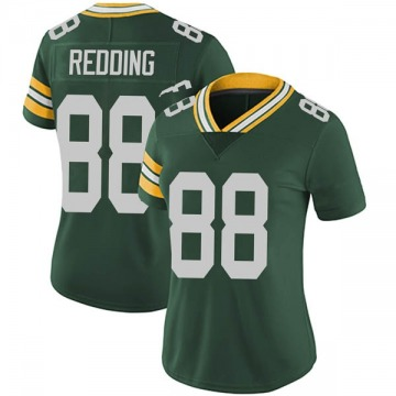 Women's Nike Green Bay Packers Teo Redding Green Team Color Vapor Untouchable Jersey - Limited