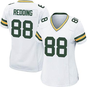 Women's Nike Green Bay Packers Teo Redding White Jersey - Game