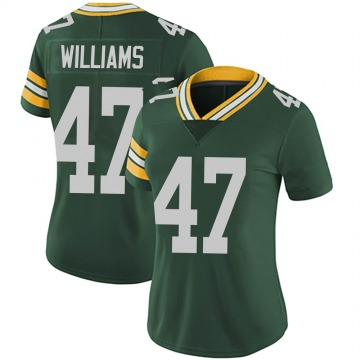 Women's Nike Green Bay Packers Tim Williams Green Team Color Vapor Untouchable Jersey - Limited