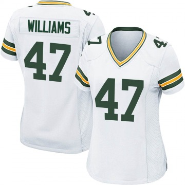 Women's Nike Green Bay Packers Tim Williams White Jersey - Game