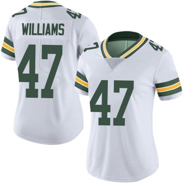 Women's Nike Green Bay Packers Tim Williams White Vapor Untouchable Jersey - Limited