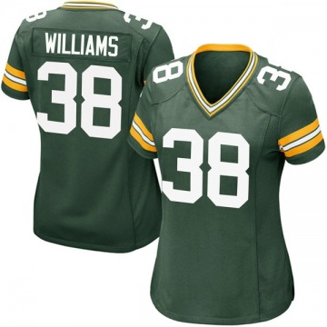 Women's Nike Green Bay Packers Tramon Williams Green Team Color Jersey - Game