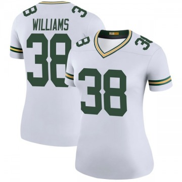 Women's Nike Green Bay Packers Tramon Williams White Color Rush Jersey - Legend