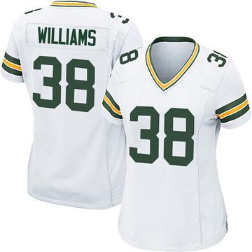 Women's Nike Green Bay Packers Tramon Williams White Jersey - Game