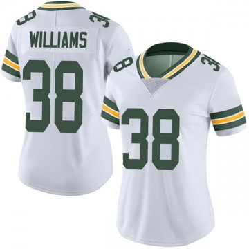 Women's Nike Green Bay Packers Tramon Williams White Vapor Untouchable Jersey - Limited