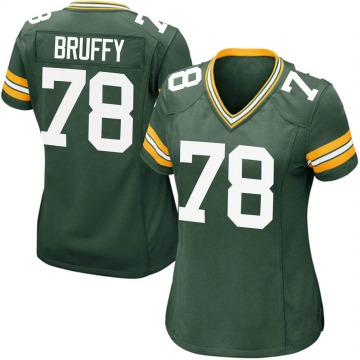 Women's Nike Green Bay Packers Travis Bruffy Green Team Color Jersey - Game