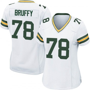 Women's Nike Green Bay Packers Travis Bruffy White Jersey - Game