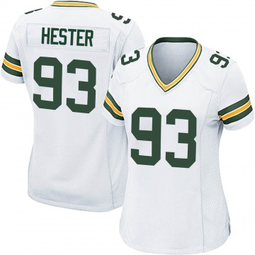 Women's Nike Green Bay Packers Treyvon Hester White Jersey - Game