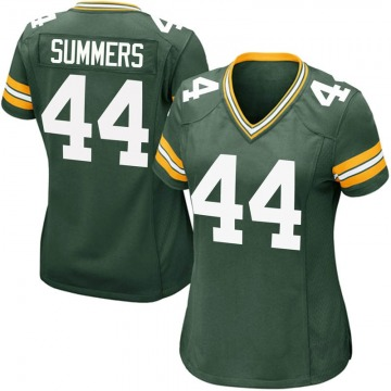 Women's Nike Green Bay Packers Ty Summers Green Team Color Jersey - Game
